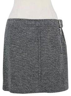 Tommy Hilfiger Womens Navy White Checkered Straight Cotto Skirt Navy Blue