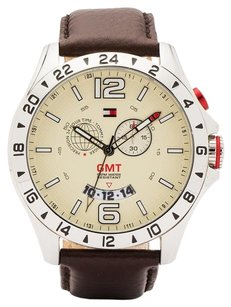 Tommy Hilfiger Tommy Hilfiger Classic GMT Leather - Brown Men's watch #1790973
