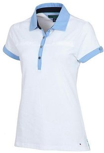Tommy Hilfiger Tommy Hilfiger Golf Womens Bluewhite Spf Polo Shirt Tw345