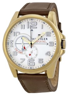 Tommy Hilfiger Tommy Hilfiger Men's 1791003 Stainless Steel Watch with Brown Leather Band