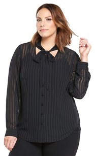 Torrid Button Down Shirt Black