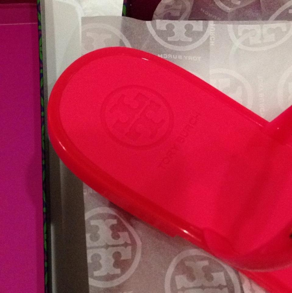 tory 2 burch 2 tory à deux bandes fluo rose gelée taille 10 apparteHommes ts. 903694