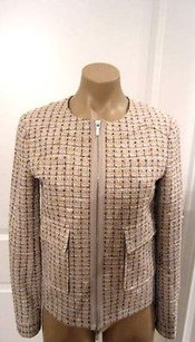 Tory Burch Holly W Metallic Running Beiges Jacket