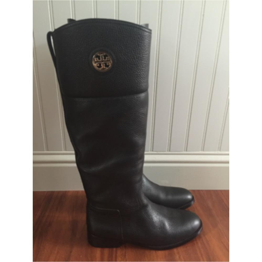 Burch Tory Black Us m Size Junction Regular Bootsbooties Riding 9 Ardr7q