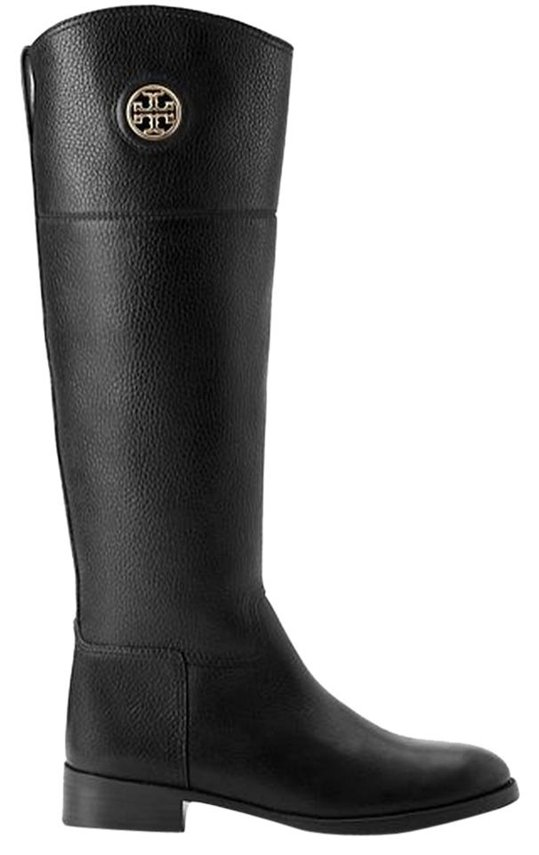 Tory Burch Riding Leather Designer Junction Riding Leather Riding Black  Boots ...