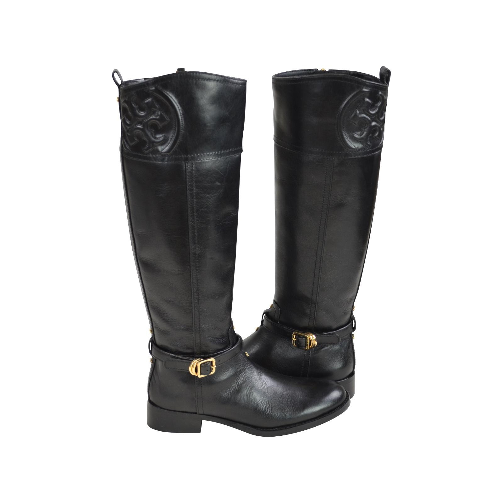 818357a04d3 ... Tory Burch Black Marlene Riding Boots Booties Size US US US 6 Regular  (M ...