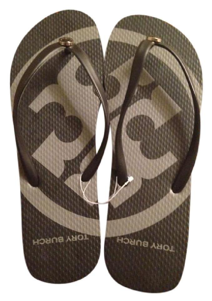 e16d1ecc3 Tory Burch Black New Flip Flops Flops Flops Sandals Size US 8 Regular (M