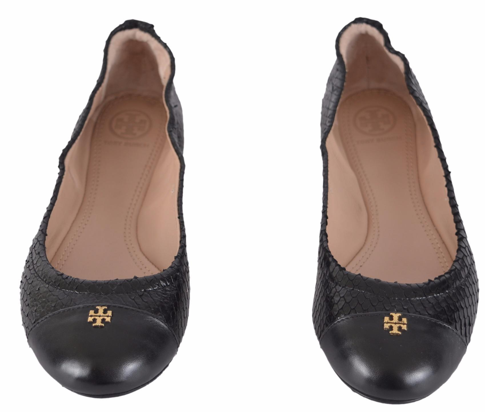 Tory Burch Black New Women's York Snake Print Cap Toe Ballet Flats Size US  6 Regular (M, B) - Tradesy