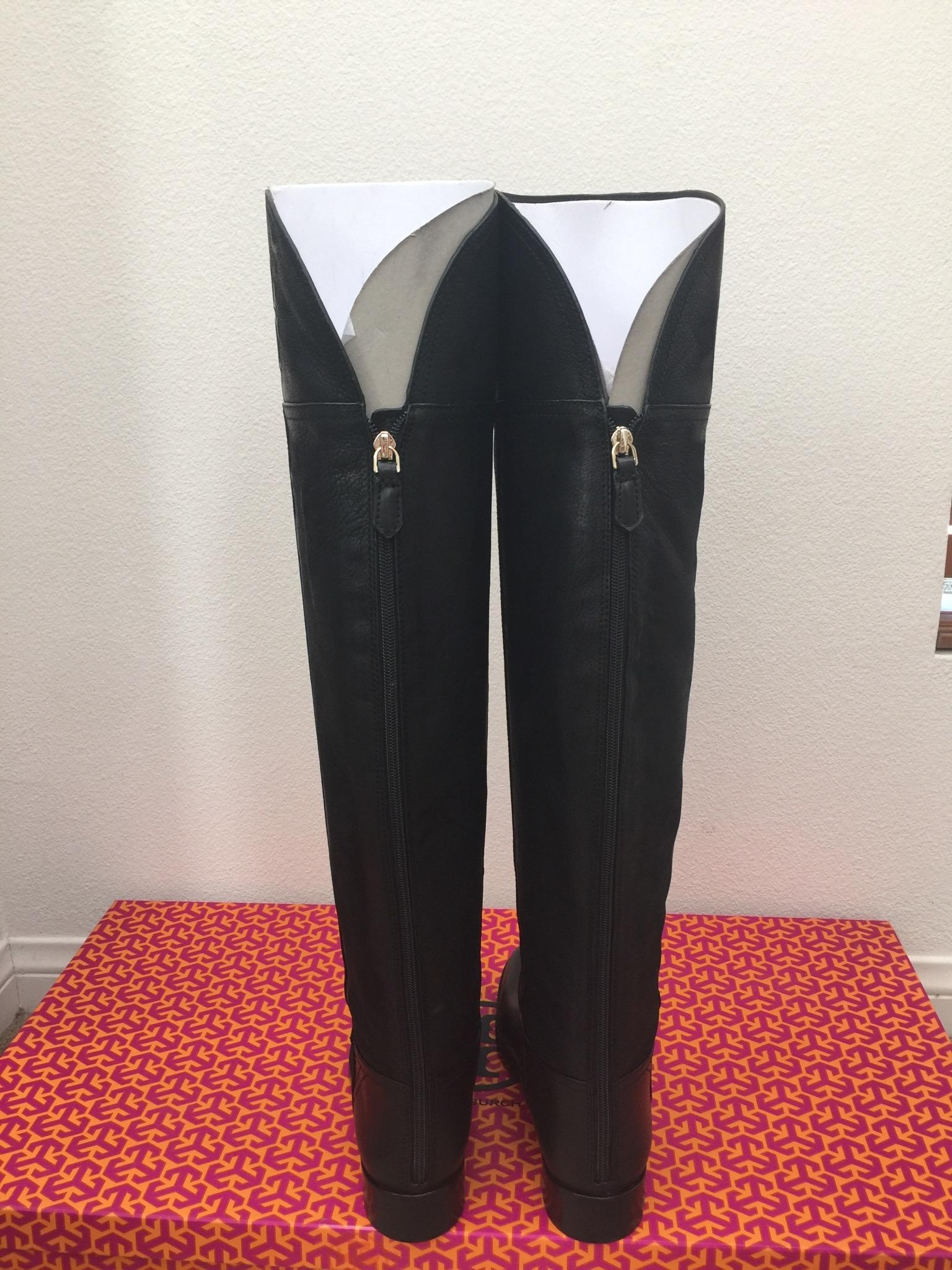 7f10a3b3065b ... Tory Burch Black Simone Over The The The Knee 35mm Vintage Buffalo Boots  Booties Size ...