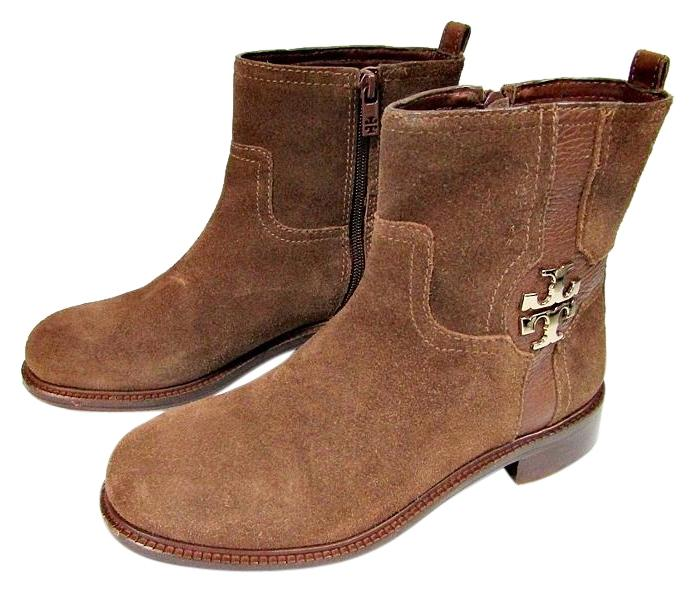 fd3615e097c00 Tory Burch Brown Alaina Alaina Alaina Ankle Almond Flat Split Suede Boots  Booties Size US 7 Regular (M