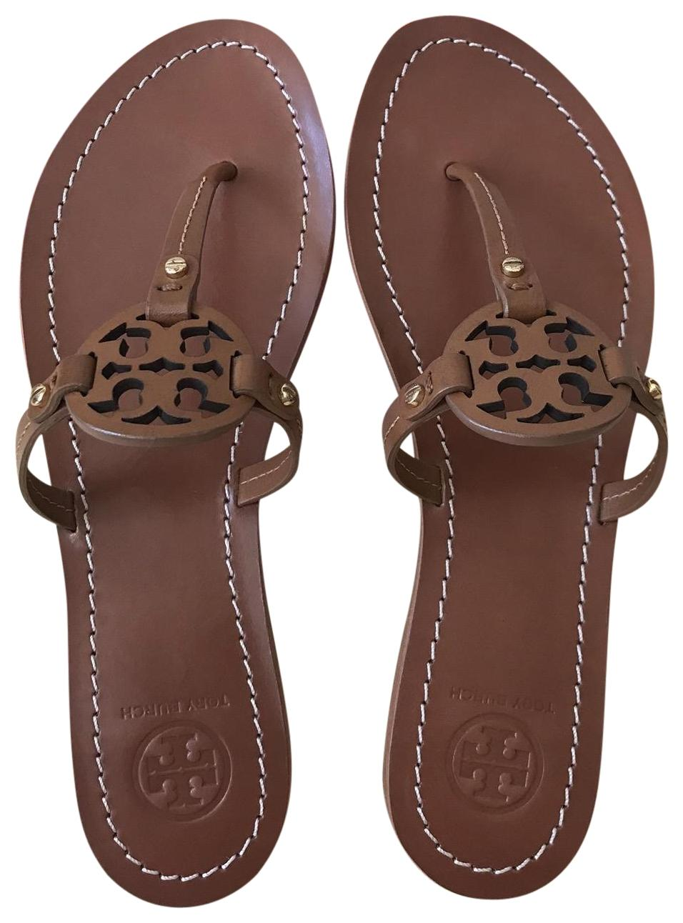 6df3e48ad Tory Tory Tory Burch Brown Mini Miller Flat Sandals Size US 8 Regular (M