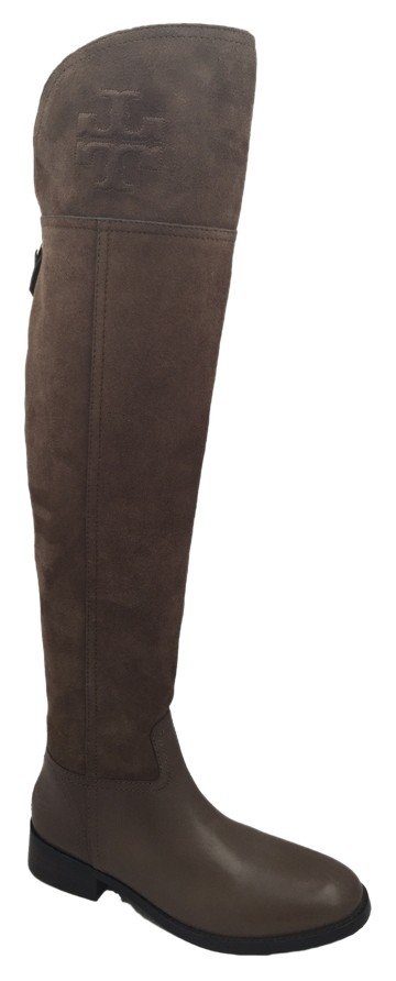 e00e090cf8b6 Tory Burch Brown Brown Brown New Simone Over The Knee Suede Leather Boots  Booties