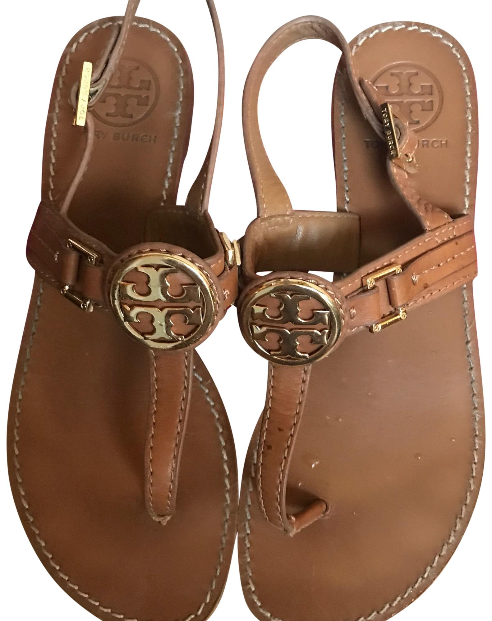 96fc9421dcc39 ... M eBay promo  tory-burch-brown-not-sure-sandals-size-us-  Tory Burch  Royal Navy Miller Rainbow Logo ...