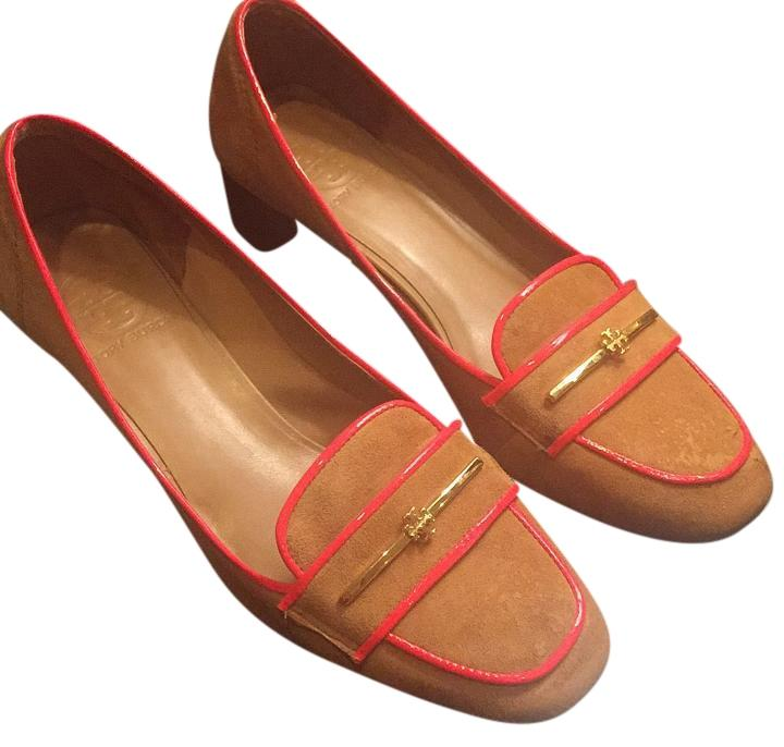 Tory Burch Brown Suede with Orange Edging. Pumps Size Size Size US 9 Regular (M, B) e33446