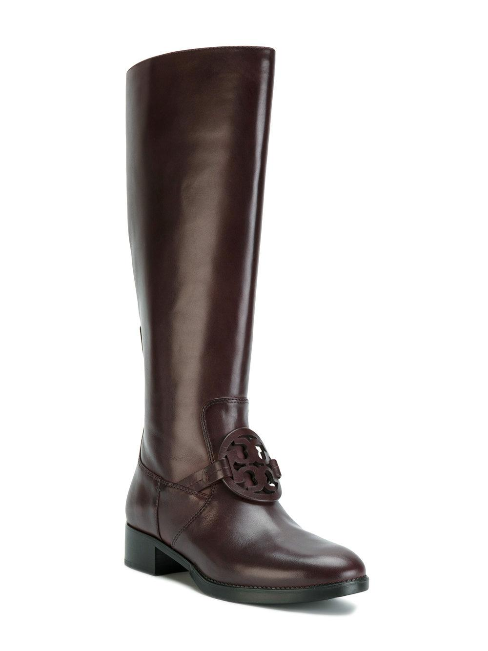 Tory Burch Burn Chocolate Miller Pull-on Leather Boots/Booties Size US 7 Regular (M, B)