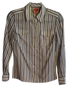 Tory Burch Button Down Shirt Periwinkle stripe