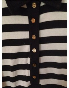 Tory Burch Button Down Shirt Dark blue/ Black & White