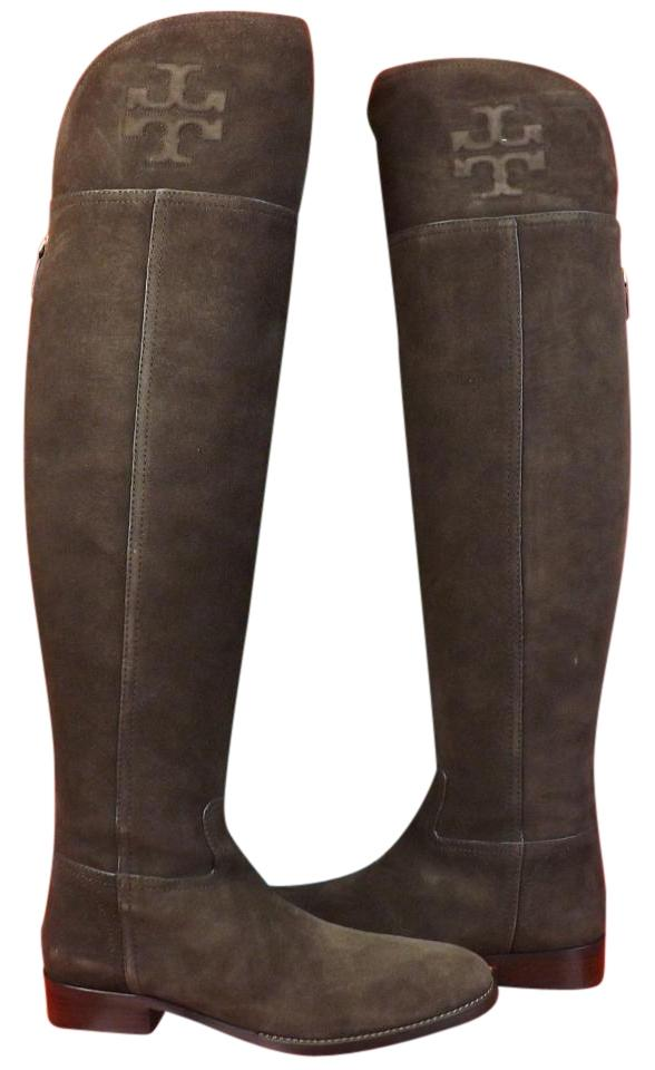 c4175e4826a9 Man s Woman s:Tory Burch Cafe Simone Suede Over Over Over The Knee Split  Reva Riding Boots Booties Size US 7 Regular (M