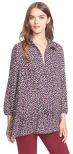 Tory Burch Cloque Tunic Top Red