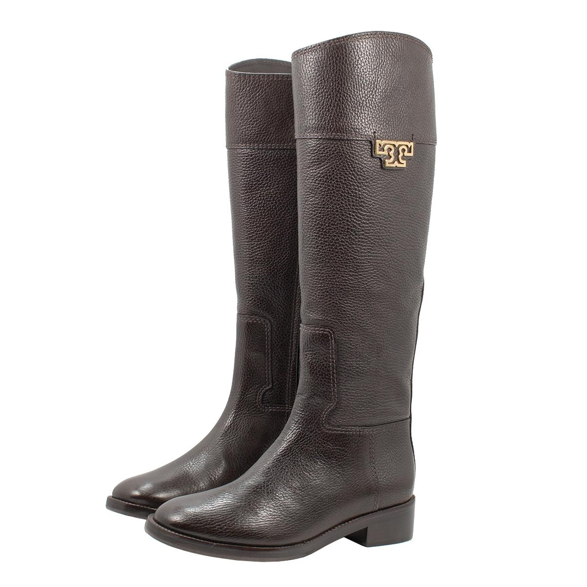 5f2273fa36b7 Men Women:Tory Burch Coconut Joanna Riding Boots Booties Size US 8 ...