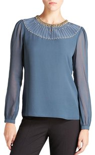 Tory Burch Darla Sheer Top Blue