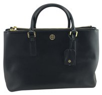 Tory Burch Double Zip Tote in Black