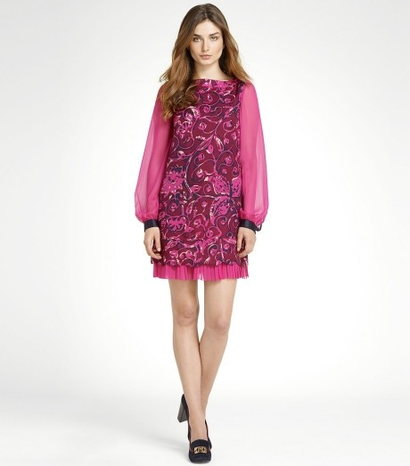 Tory Burch Pink-Purple Colorblock Dorrance Dress - 50% Off Retail