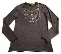 Tory Burch Embellished Crystal Cashmere Pretty Sweater