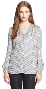 Tory Burch Embellished Ivory Top Cream