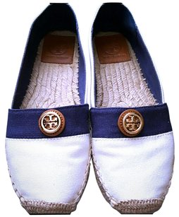 Tory Burch Espadrille Beacher Ivory Navy Flats