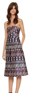 Tory Burch Fern Embroidered Strapless Dress