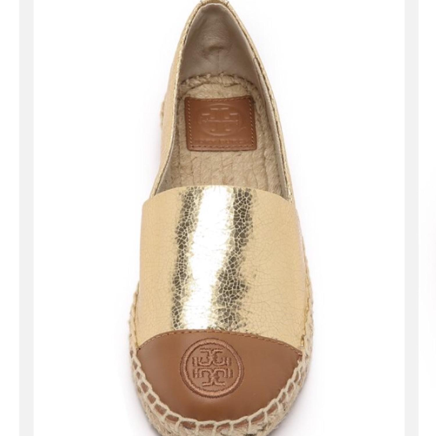 Tory or or or burch or tory et tan 234567 flats taille nous réguliers (m ... ca8970