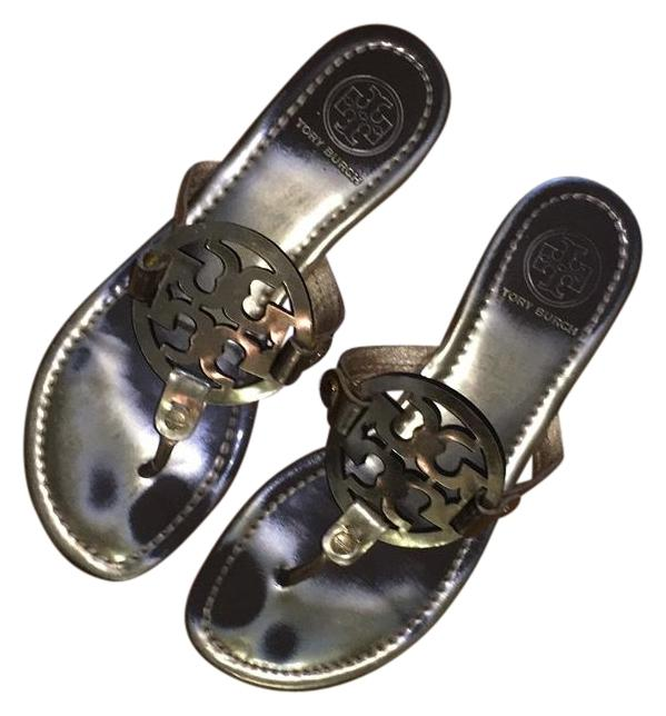 67004ba2bcae Tory Burch Gold Miller Miller Miller Sandals Size US 7 Regular (M