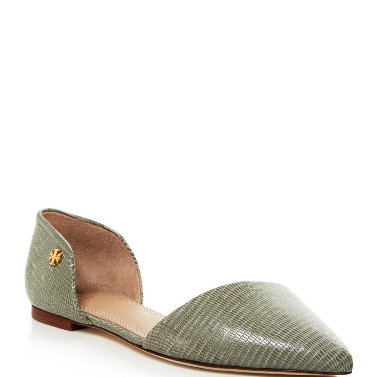 Tory Burch Gray, Green Flats ...