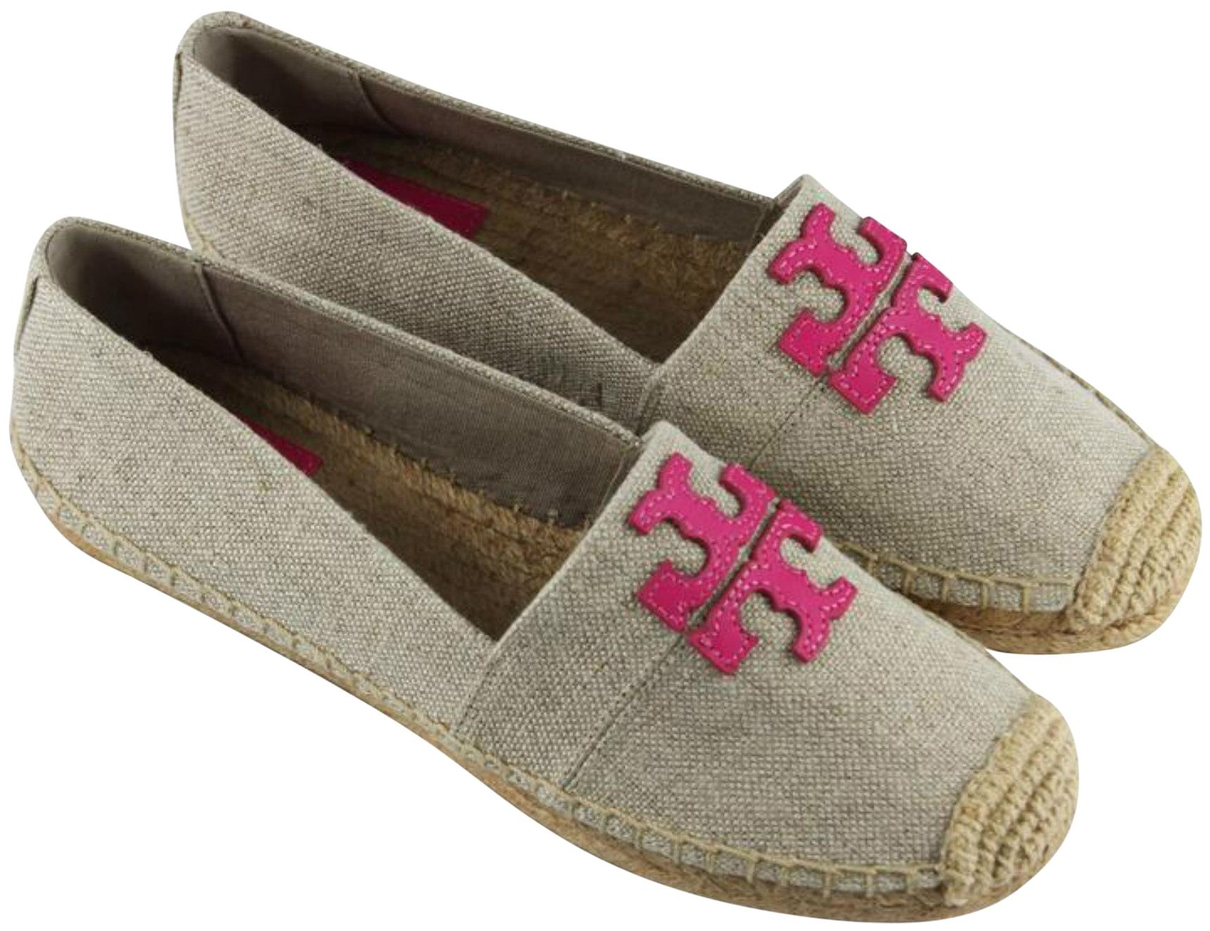 cdc3c696c Tory Burch Gray Pink Weston Canvas Canvas Canvas Espadrilles Flats Size US  8.5 Regular (M