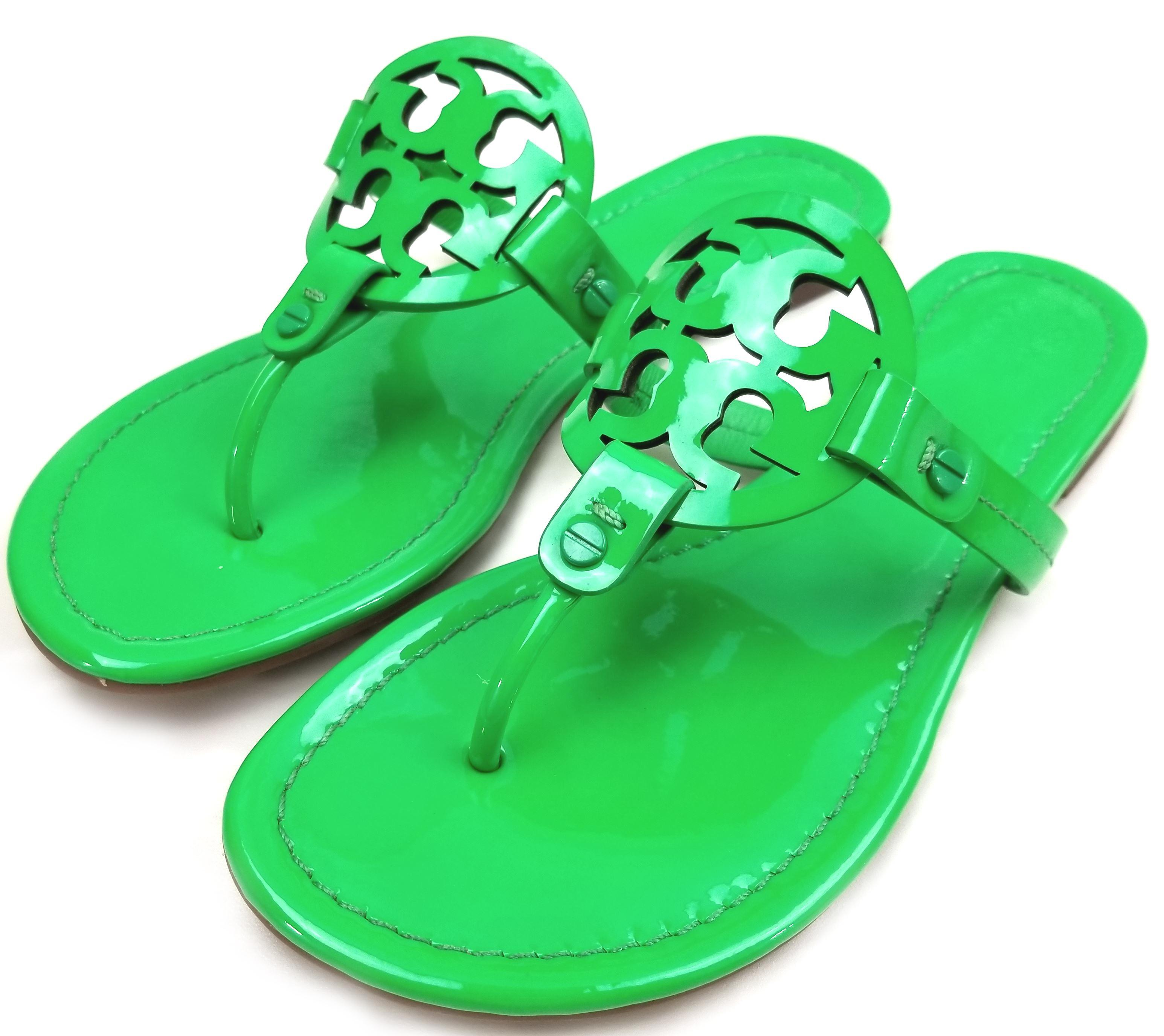 8a3ab54c1 ... B Tory Burch Green Patent Miller Sandals Size Size Size US 8.5 Regular ( M