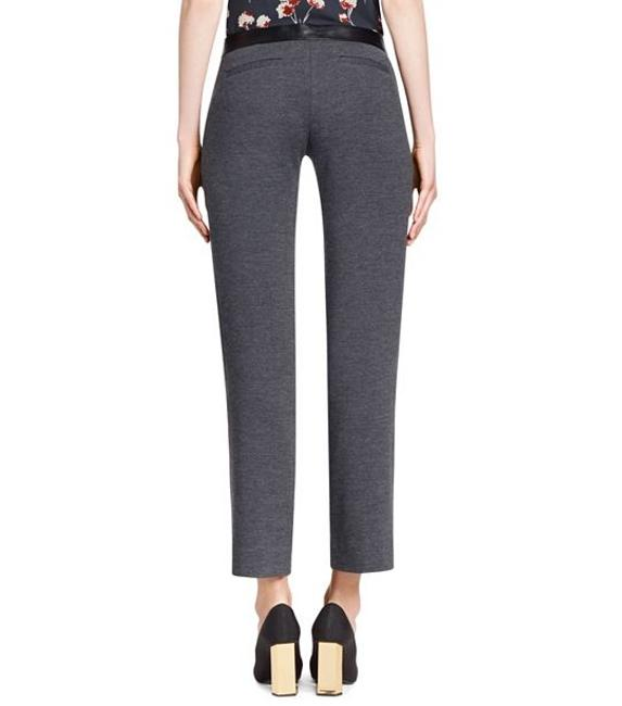 Tory Burch Wool Wool Blend Ankle Length Fitting Straight Pants Grey