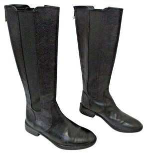Tory Burch Tall Leather Black Boots