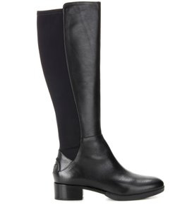 Tory Burch Leather Dupe Stretch Knee High Black Boots