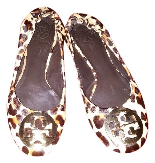 Tory Burch Leopard Print Calf Hair Leather 9 Reva Flats Size US 9 Leather Regular (M, B) 6d2eee