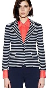 Tory Burch Navy and White Blazer