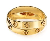 Tory Burch NWT TORY BURCH METAL LOGO DOUBLE WRAP BRACELET GOLD TONE W DUST BAG $1