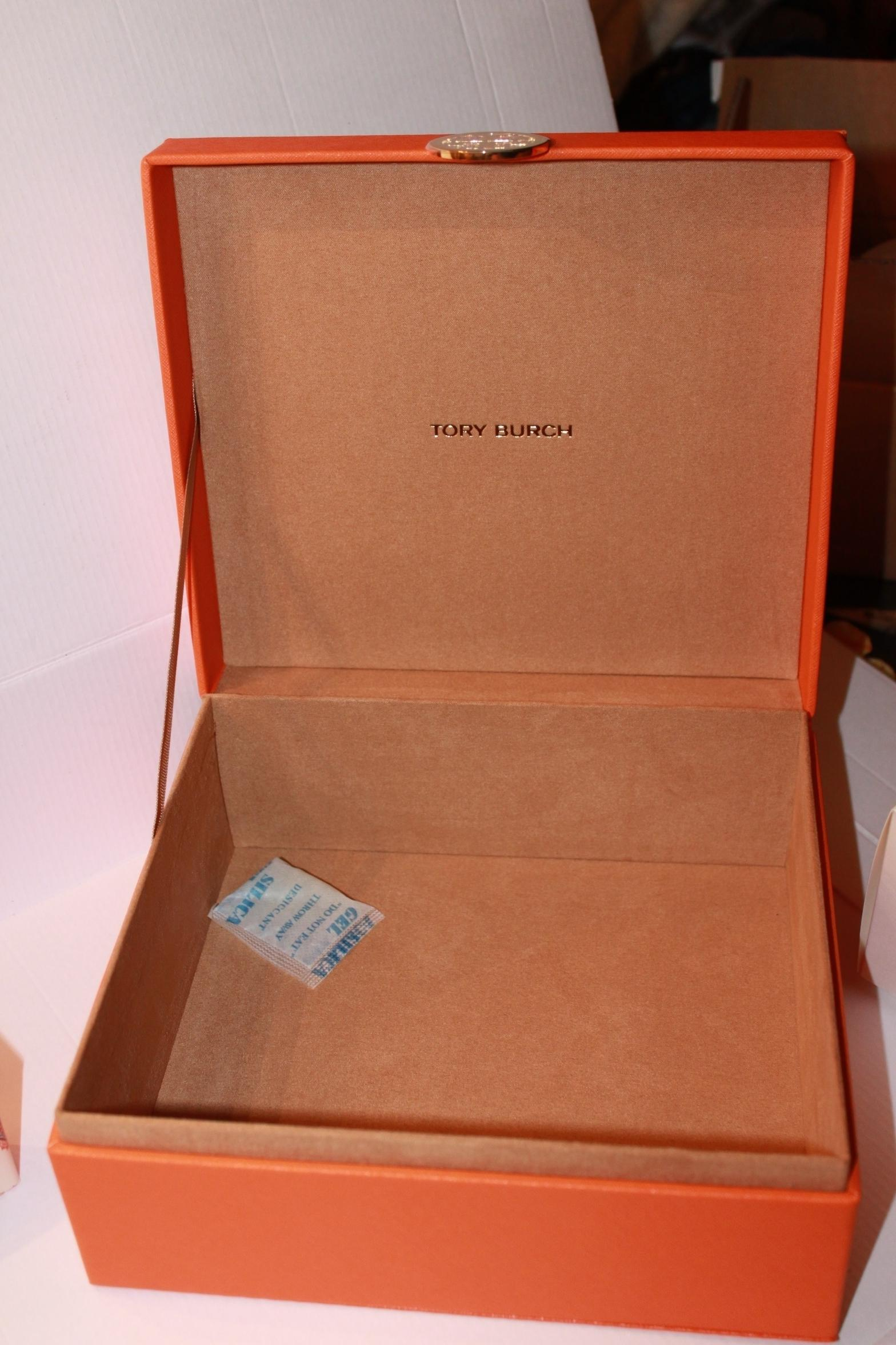 Tory Burch Orange Jewelry and Keepsake Box Tradesy