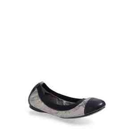 Tory Burch Pewter/Navy Flats
