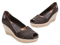 Tory Burch Black Canvas Black, beige Sandals
