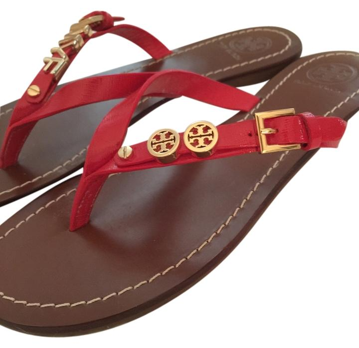 c437adcf3ae534 wholesale tory burch black monogram flat thong sandals d95b3 f880e  ireland tory  burch red sandals 90fed 7ec3f