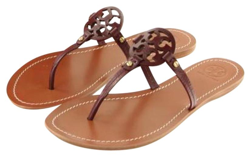 61c5ee3f504a Tory Burch Red Oxblood End-of-summer-sale Mini Miller Sandals Size ...