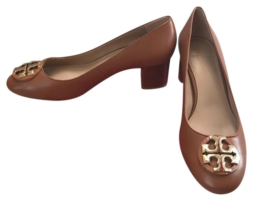 Tory Burch Janey Royal Tan/ Gold Pumps ...
