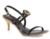 Tory Burch Mira Leather Black Sandals