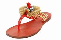 Tory Burch Womens Leather red Sandals